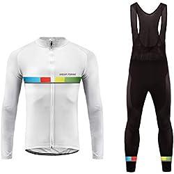 Future Sports UGLYFROG Mens Ciclismo Jersey Team Ciclismo Ropa Jersey Pantalones Correa Bodies Camisa de Secado Rápido Ropa al Aire Libre de la Bicicleta