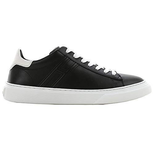 Hogan Sneaker H365 Nere in Pelle HXM3650J960KFN0002 Nero Uomo 11