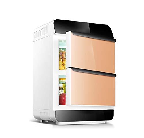 Auto nach Hause Kleiner Kühlschrank mit kleinem Verwendungszweck, 28L große Kapazität tragbare Dual-Core-Doppeltür-Kühlanlage, ABS-Material ! (Color : Gold, Style : Mechanical) - Doppel-tür Kompakt Kühlschrank