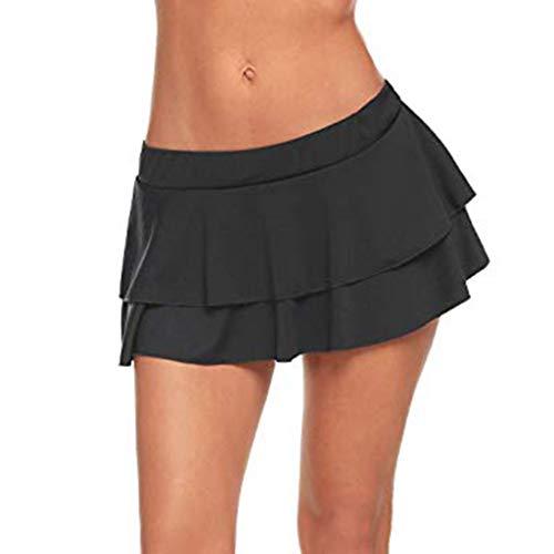 FRAUIT Damen Sexy Rollenspiel Plissee Mini Rock Rüschen Dessous für Schulmädchen Club Low Taille Sexy Party und Abend Minirock -