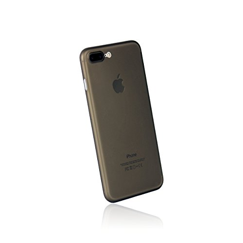 hardwrk ultra-slim Case für iPhone 7 Plus - jet black - ultradünne Hülle für Apple iPhone in diamantschwarz frosted black