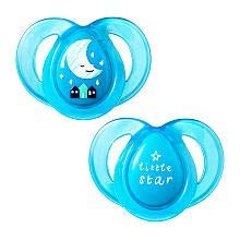 """TOMMEE TIPPEE""""NIGHT TIME"""" - 2x Physiological Silicone Pacifiers Soothers Dummies (6-18m+)"""