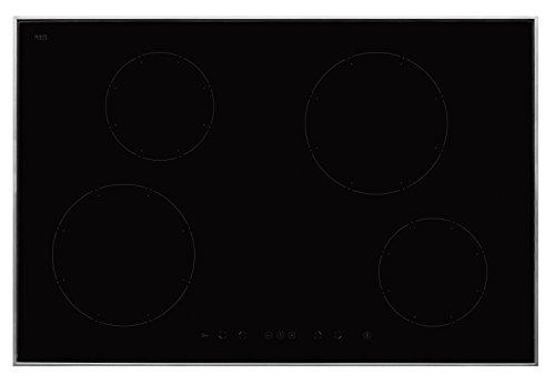 Amica KMI 13317 E Plaque Électrique/induction/76,8 cm/4 zones de cuisson Power Booster de haute performance en verre Montage en/Céramique Noir