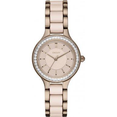 DKNY NY2467 Ladies Chambers Two Tone Mixed Bracelet Watch
