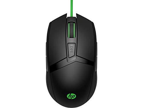 HP Pavilion Gaming 300 (4PH30AA) Maus (kabelgebunden, LED-Beleuchtung, 8 Tasten, 5.000 dpi) schwarz/grün