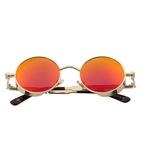 Daawqee Gothic Steampunk Mens Sunglasses Coating Mirrored