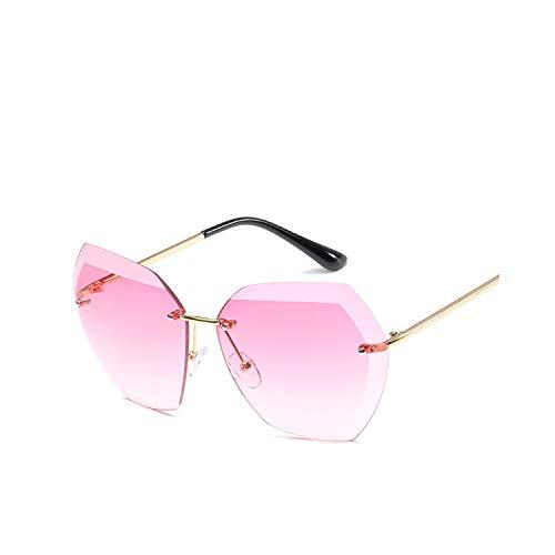 Sportbrillen, Angeln Golfbrille,New Women Rimless Sunglasses Classic Brand Designer Gradient Sun Glasses For Women Vintage Round Gafas Oculos 7