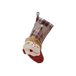 Xuxuou 1 Pieza Medias de Navidad de Decoración del árbol de Navidad Ornamento Colgante Regalo Titulares Calcetín