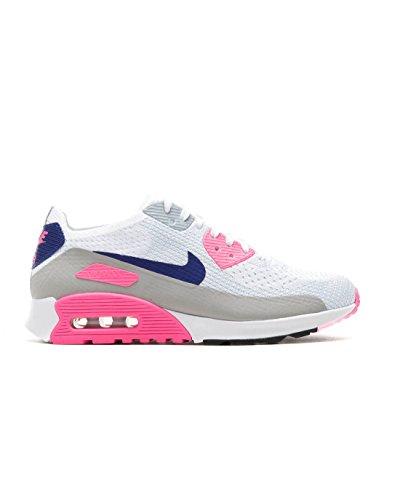 Nike Femme Air Max 90 Ultra 2.0 Flyknit Chaussures De Course 881109 Gris-rose-blanc Chaussures De Tennis