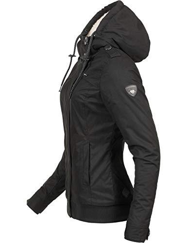 Ragwear Damen Winterjacke Outdoorjacke Ewok Schwarz018 Gr. M - 3