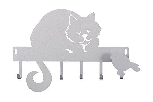 Arti e Mestieri Schlüsselbrett Katze Romeo Farbe Aluminium