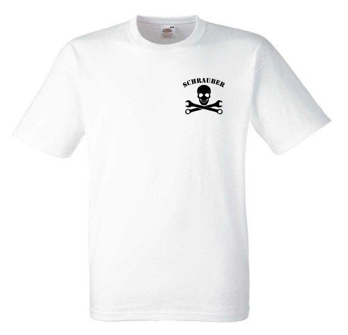 Schrauber T547 Unisex T-Shirt Textilfarbe: weiß