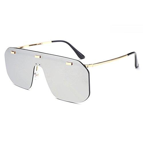 Demasiado grande Gafas de sol a prueba de viento para hombres Mujeres Retro Vintage Driving Aviator Party Motor Eye Wear lente negra gafas de montura de una pieza para hombre Ladies con estuche