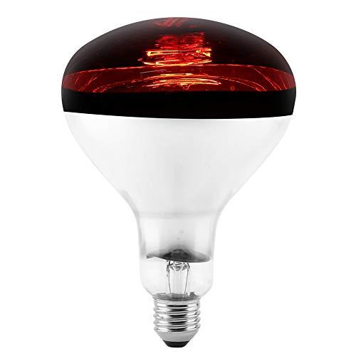 Zerodis Reptilien-Wärmelampe für Reptilien, Infrarot-Wärme, E27-Lampe, kein Schaden, kein Licht, Infrarot-Heizstrahler, Wärme-Glühbirne für Wintertierfarm 220-240 V -