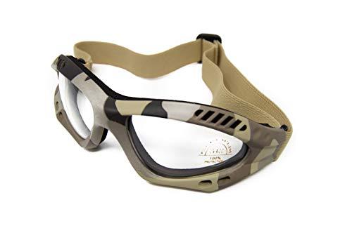 Crossnar Gafas Airsoft Dessert Camuflaje Proteccion UV Banda Elástica