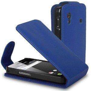 Azzurro Custodia in Pelle per Samsung S5830 Galaxy...