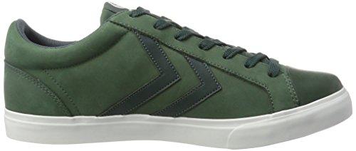 Hummel Baseline Court, Sneakers Basses Homme Vert (Darkest Spruce)