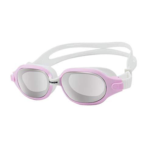 TD Schwimmbrille Große Rahmenbrille Wasserdicht Anti Nebel Überzug Brille Schwimmen (Farbe : A)
