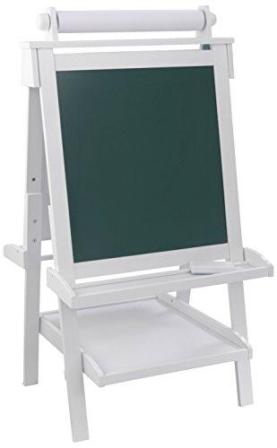 KidKraft 62040 Deluxe Staffelei aus Holz weiß –  Malset kompatibel mit Stiften, Kreide, Farbe und mehr für Kinder