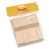 Wooden Craft/Ice Lolly Stick - 100 Per Pack