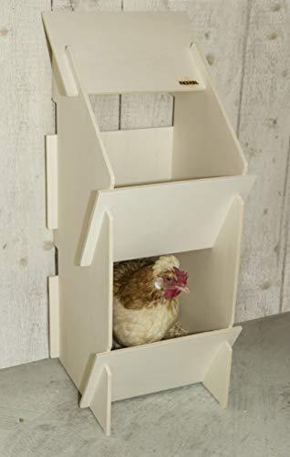 Kerbl 73005 Hühner Legenest aus Holz, unmontiert, 30 x 35 x 83 cm - 3