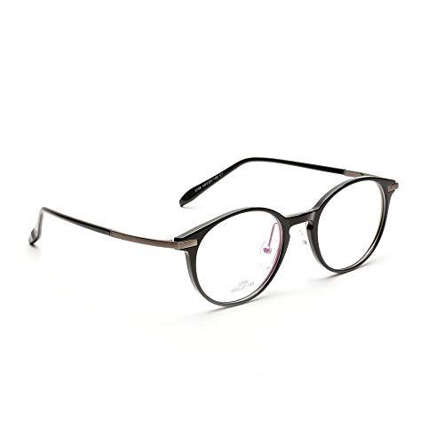 WULE-RYP Polarisierte Sonnenbrille mit UV-Schutz Retro optische Gläser der Frauen klare Linse Geek/Nerd-Gläser. Superleichtes Rahmen-Fischen, das Golf fährt (Farbe : Bright Black)