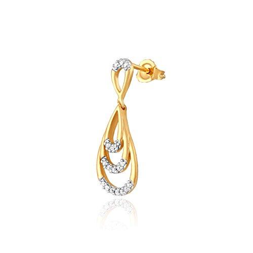 Giantti 14carats Diamant pour femme Dangler Boucles d'oreilles (0,16CT, VS/Si-clarity, Gh-colour)