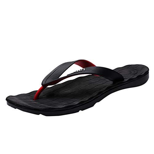 Scarpa Antiscivolo per Il Tempo Libero Sandali Impermeabili Antiscivolo Infradito da Spiaggia Uomo (41 EU,Nero)