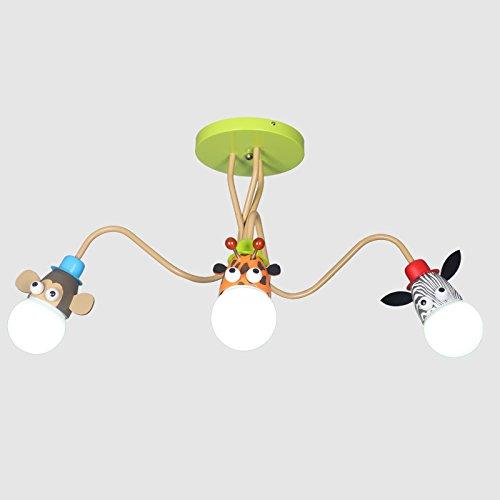 Lampadario Mmyyy Creative buoni amici bambini animale luce da soffitto lampadari lampade da parete LED kindergarten i bambini per la cura degli occhi