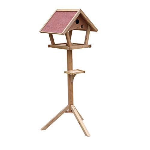 YSNUK Vogelhäuschen Hölzerner Vogeltisch Freistehender Im Freienheim-Garten-Vogel-Fütterungshaus-Station-Dekor-Dekorations-Möbel Fütterungsmaschine, im Freien -