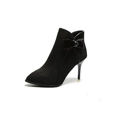 RTRY Scarpe Donna Pelle Nubuck Caduta Molla Comfort Stivali Stiletto Heel Punta Babbucce/Stivaletti Zip Bowknot Per Abbigliamento Casual US8 / EU39 / UK6 / CN39