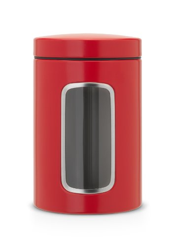 Brabantia Fensterdose 1,4 L rund/Passion Red