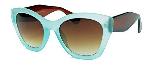 Retro Sonnenbrille für Damen Bold Cateye Frame CBF19 (Curacao / Cognac)