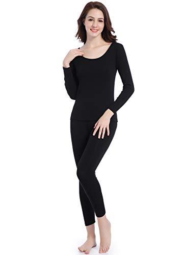 Damen Thermounterwäsche Baumwolle U-Außchnitt Wärmende Unterwäsche Base Layer -