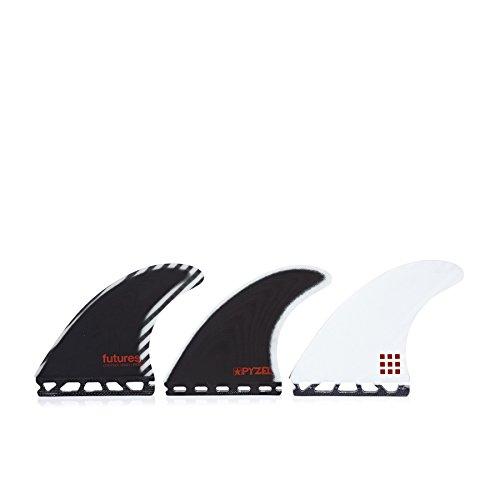 Futures Pyzel Control Series Thruster Fin Medium Black/white - 1135-serie