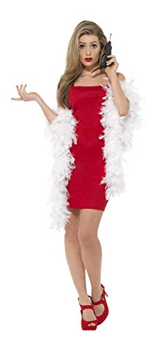 Smiffys Clueless Cher Costume. Red Dress, Feather Boa & Phone - small or medium