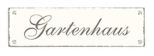 SCHILD Turschild GARTENHAUS Shabby Vintage Holzschild Dekoschild Dekoration Gartner Florist Garten