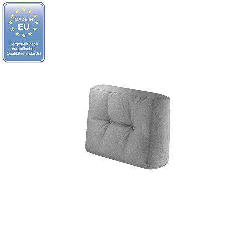 Vicco Farbvielfalt Palettensofa Palettenpolster Kissen Sofa Couch Polster Indoor Outdoor (Seitenkissen, Grau)