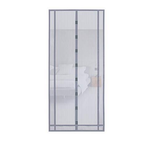 Sekey 220x100cm Cortina magnética, ideal para puerta de balcón, puerta de sótano, puerta de terraza (se puede cortar en altura y ancho) mediante montaje fácil de pegamento, gris