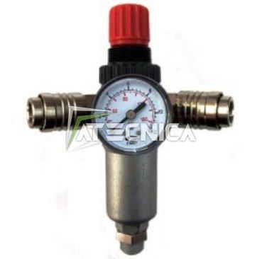 Druckregler FIAC 950/1mit Filter, Manometer und zwei schnelle Armaturen für Kompressoren Klimaanlage (Regolatore Filtro)
