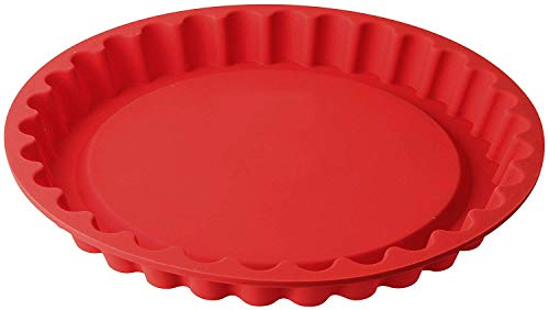 Dr. Oetker Obstkuchenform Ø 28 cm Flexxibel, Obsttortenform aus Silikon, Tortenbodenform für eindrucksvolle Kreationen, hochwertige Silikon-Kuchenform, Menge: 1 Stück