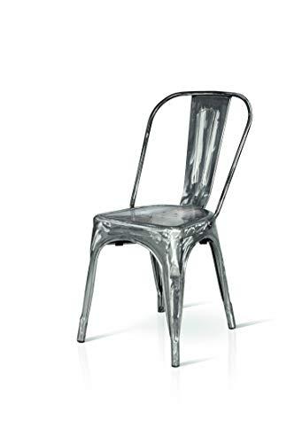 45x50x60 cm Fashion Commerce Tolix Sedie 1 Unit/à Argento Metallo