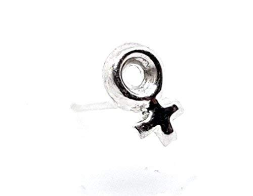 Eclectic Shop Uk Pendiente Nariz Venus Mujer Pendiente Nariz 22g (0.6mm) L Flexible Mujer Mujer Feminista