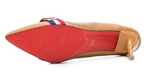 Pointue Style Femme Basse Aisun Jaune Nouveau Escarpins Mode RS1qv