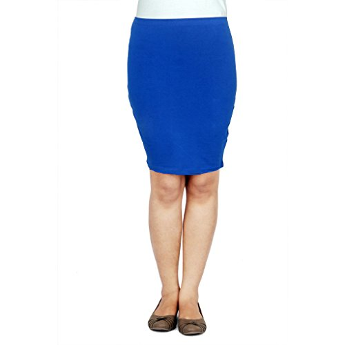 TeesTadka Women's Cotton Lycra Pencil Skirt