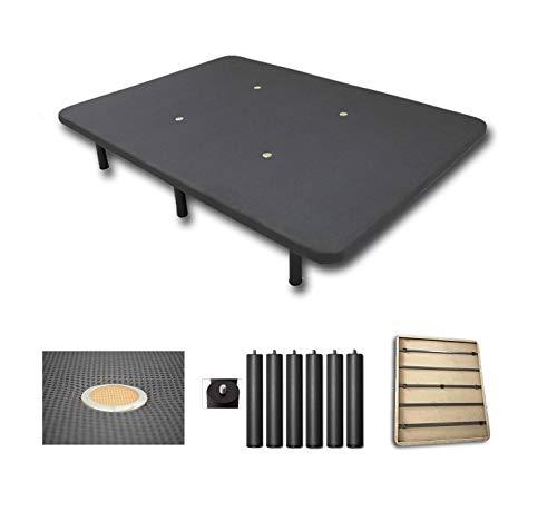 Duermete Base Tapizada 3D Reforzada 5 Barras de Refuerzo y Válvulas de...
