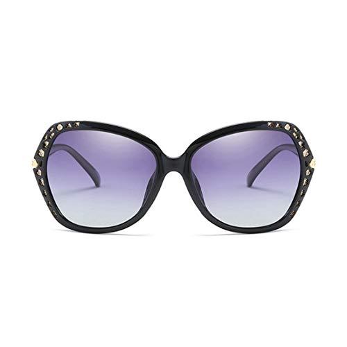 Polarisierte Sonnenbrille mit UV-Schutz Übergroße polarisierte Sonnenbrille für Frauen Square Frame Sonnenbrille umrandete Katzenaugen-Sonnenbrille UV-Schutz Classic Cool Lady Sonnenbrille für das Fah
