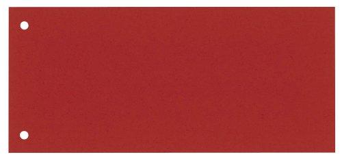 100 DONAU Trennstreifen / rot / 190 g/m² / 23,5 x 10,5 cm / für DIN A4