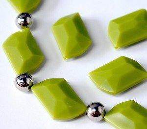 Vert à facettes Focal 37 mm Perles Ccb espaceurs GRATUIT!