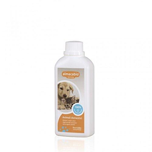 ALMACABIO - EcoBio Pet Deodorant Mikroelemente - Geruch beseitigen auf Stoffen, Teppichen, Sofas - Sichere Zutaten für die ganze Familie - -BIOCEQ, CCPB, Vegan OK-Zertifikat - Getestet mit Nickel, Chrom, Blei und Cadmium - Made in Italy - 250 ml (Gerüche Beseitigen Haustier)